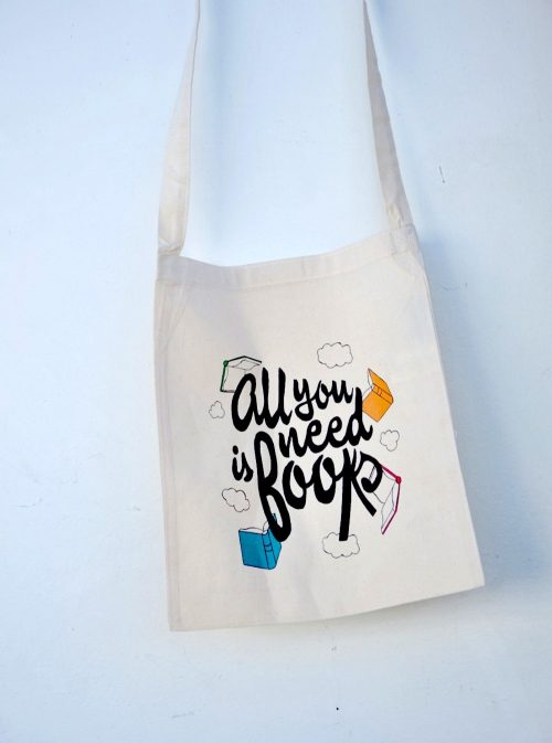 Bolsa de tela All you need is books